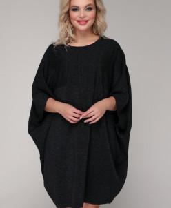 Платье 085 черный металл.