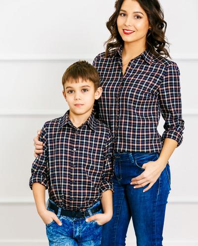 "Комплект рубашек Family Look папа+сын ""Техас"""