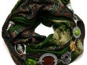 НОВЫЙ женский шарф-колье с Чешской бижутерией.