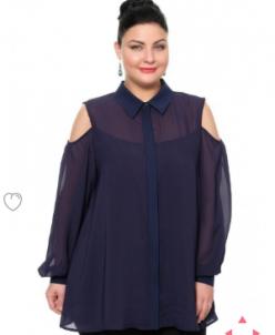 Блуза Темно-синий
