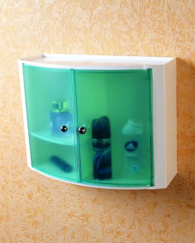 Серия 084 Настенный шкаф с дверцами (цвет: прозрачно-зелёный