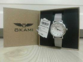 Женские часы OKAMI на серебряном миланском браслет