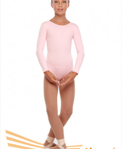 Купальник гимнастический длинный рукав (хлопок) 3 цв,26-48
