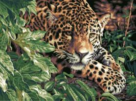 Картины по номерам GX 6833 Леопард в кустах
