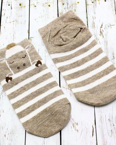 """Короткие женские носки """"Short Brown"""""""