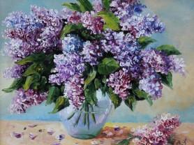 Картины по номерам GX 3567 Сирень в вазе