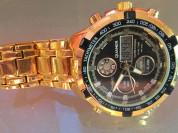 Кварцевые светодиодные спортивные часы