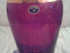 Новая ваза из Богемского стекла, с золотом, Чехия.