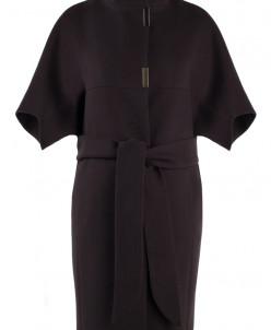 01-5727 Пальто женское демисезонное (пояс) Кашемир Шоколад