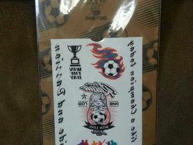 Модное флэш тату на футбольную тематику