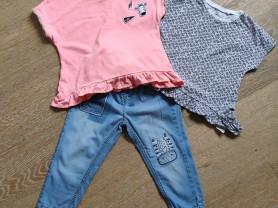 Next комплект джинсы + 2 футболки, 1,5-3года