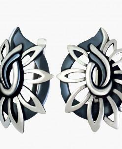Серьги из серебра Нателла с нанокерамикой Юмила