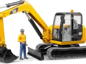Bruder Экскаватор CAT и рабочий - BD002466