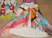 Летнее платье с шелковыми клиньями на рост 122-128