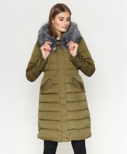 Куртка женская цвета хаки модель 8606