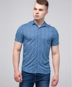 Синяя удобная рубашка молодежная Semco