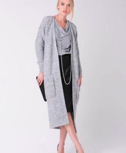 Пальто  (светло-серый меланж) Sewel