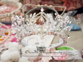 Свадебная Диадема/Корона ручной работы для невесты