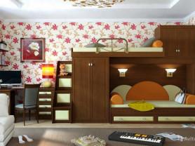Детская мебель, двухъярусная кровать чердак