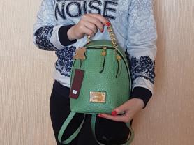 Новый маленький кожаный рюкзак Италия