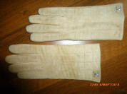 перчатки замшевые,утеплённые,под Chanel, р.8, нов.
