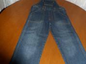 Темно-синий джинсовый комбинезон для девочки