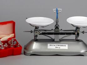 Весы учебные с гирями до 200 грамм (в наличии) new
