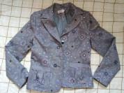 Пиджак стильный с кармашками р.46-48 б-у пару раз