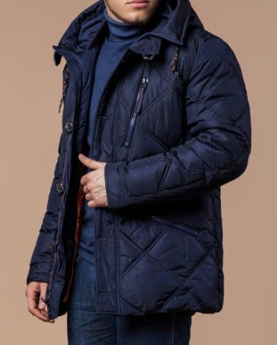 Темно-синяя фабричная куртка мужская модель 12481