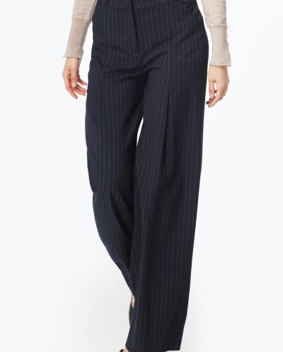 Широкие брюки со складками