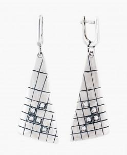 Серьги из серебра Аксиома Юмила