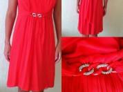 Платье новое Luisa Spagnoli Италия размер 46 М шёлк коралловое и стразы сваровски камни Swarovski сарафан