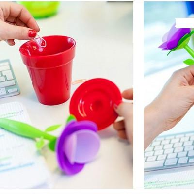 Канцтовары шариковая ручка + органайзер для канцтоваров  FLO