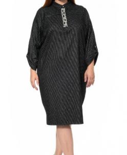 Платье черный полоска