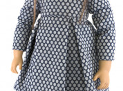 Кукла Амели, в платье в горох, 62 см