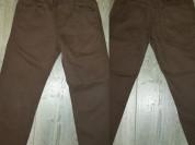 Брюки - джинсы коричневые р. 110-116, в отличном с