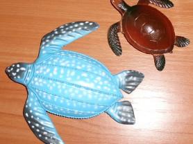 Черепаха игрушки пластик 10-16 см - 2 шт (1 лот)