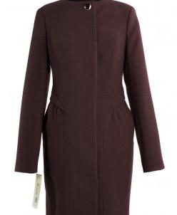 01-4911 Пальто женское демисезонное Кашемир Шоколад