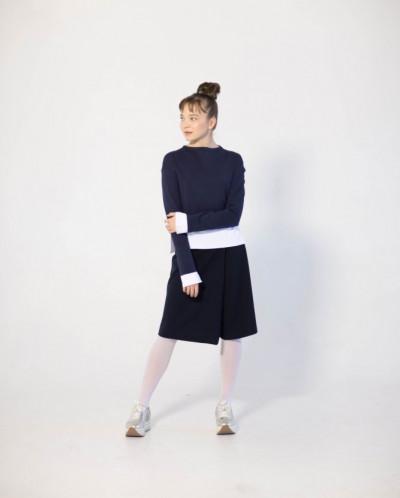 Юбка-брюки с эффектом запАха