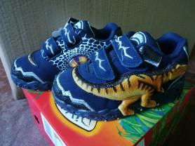 Кроссовки Dinosoles Тирексы синие низкие