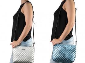 Новые стильные кожаные сумки Италия металлик