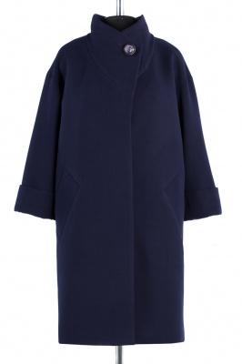 01-4522 Пальто женское демисезонное Кашемир Темно-синий