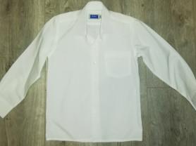 Рубашка школьная р. 122, новая кремовый цвет, так