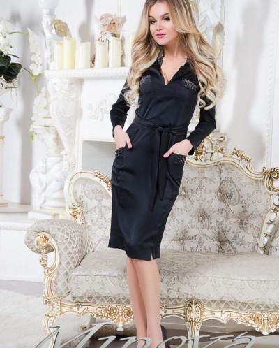 Платье №м67-черный