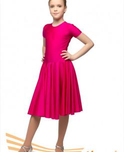 Рейтинг.платье,короткий рукав,юбка двойное солнце,3 цв,28-42