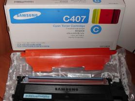 Картридж голубой тонерный С407S Samsung - б/у