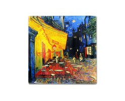 Тарелка квадратная Ночная терраса кафе (Ван Гог) без инд.упа