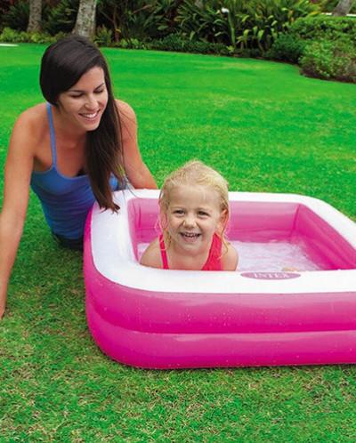 Детский надувной бассейн 85х85х23см, 57л, от 1 до 3 лет