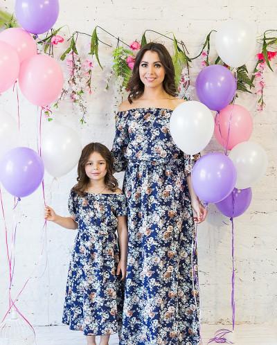 """Комплект платьев Family Look для мамы и дочки """"Элегия"""""""