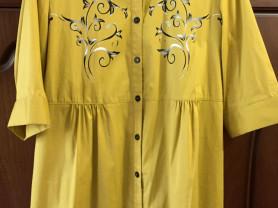 Новая рубашка-туника Ladies Корея р-р 18 (54-56)